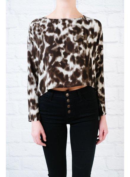Blouse Leopard cowl back blouse