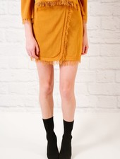 Skirt Coordinating fray hem skirt
