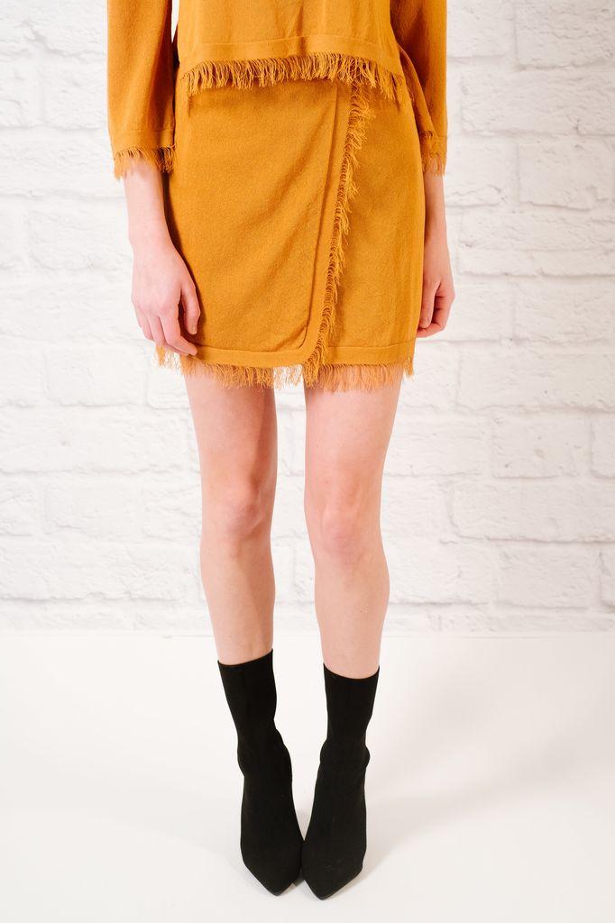 Skirt Coordinating fray hem skirt