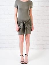 T-shirt Grey Tie Front T-Shirt Dress