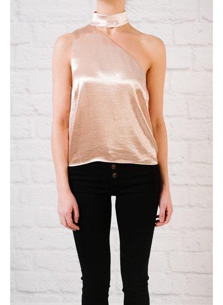Sleeveless blouse Satin Asymmetrical Sleeveless Blouse