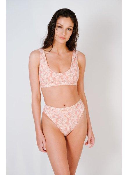 Bikini Cameo leaves sport bikini top
