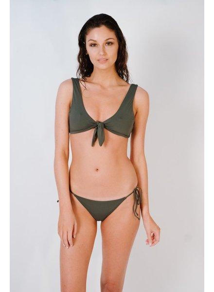 Bikini Charcoal knot front bikini top