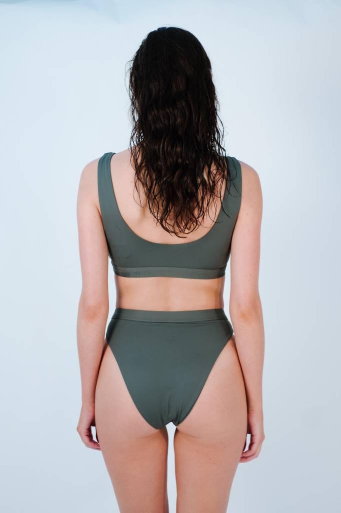 Bikini Charcoal high cut banded bottom