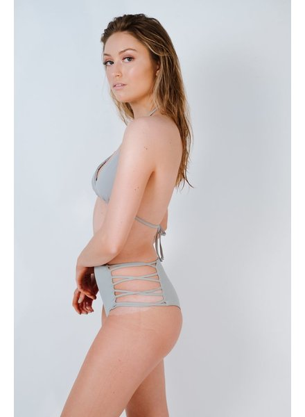 Bikini Light grey caged cheeky bottom
