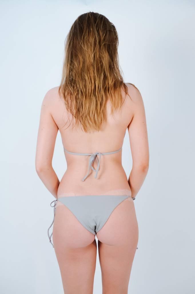 Bikini Light grey string bikini bottom