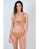 Bikini Mauve knot front bikini top