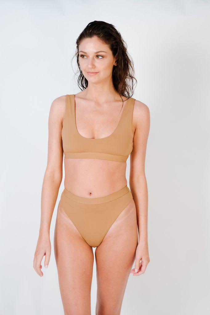 Bikini Mauve sport bikini top