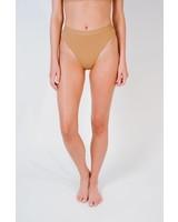 Bikini Mauve high cut banded bottom