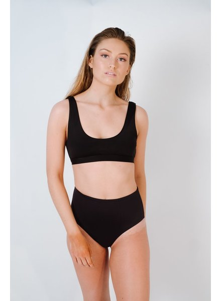 Bikini Black seamless high rise bottom