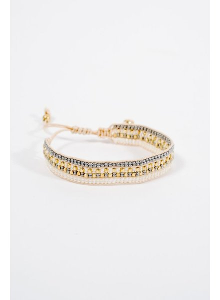Trend Neutral beaded slide bracelet