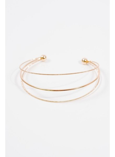 Gold Gold 3 strand cuff