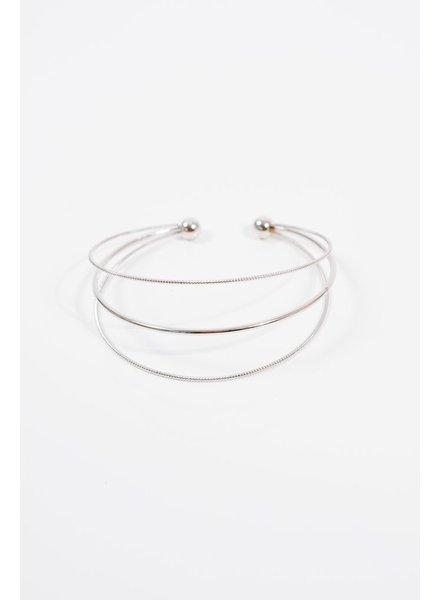 Silver Silver 3 strand cuff