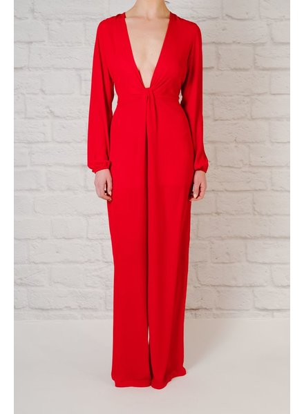 Jumpsuit Red Long Sleeve Jumpsuit