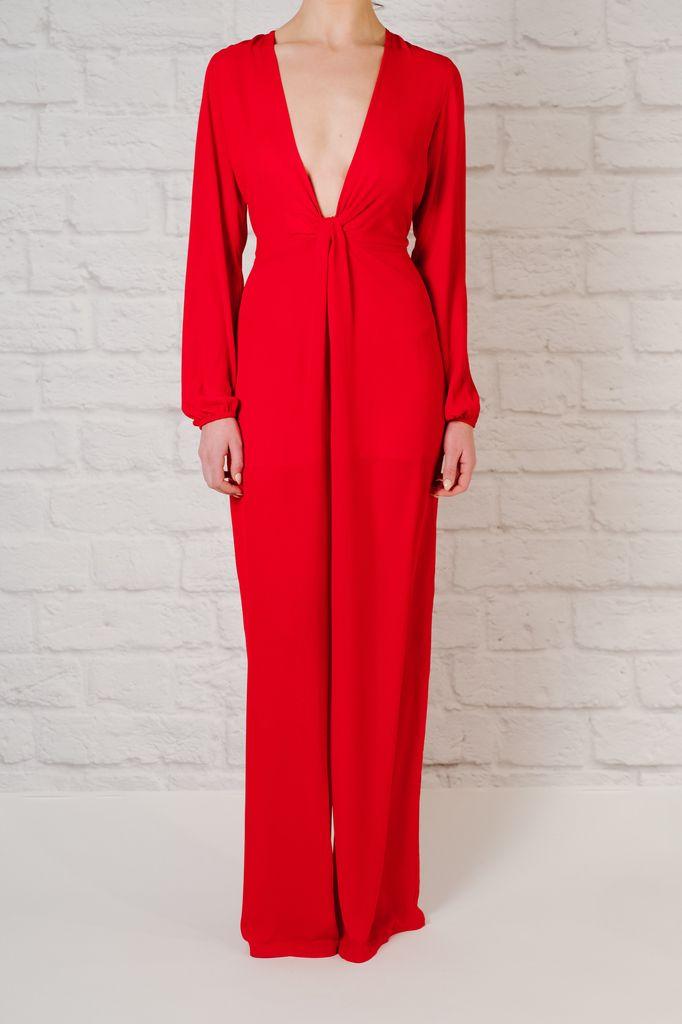 Jumpsuit Red Long Sleeve Jumpsuit
