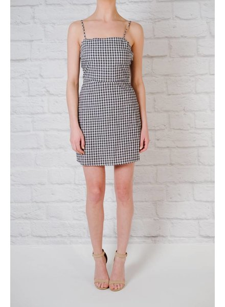 Casual Gingham tie back dress