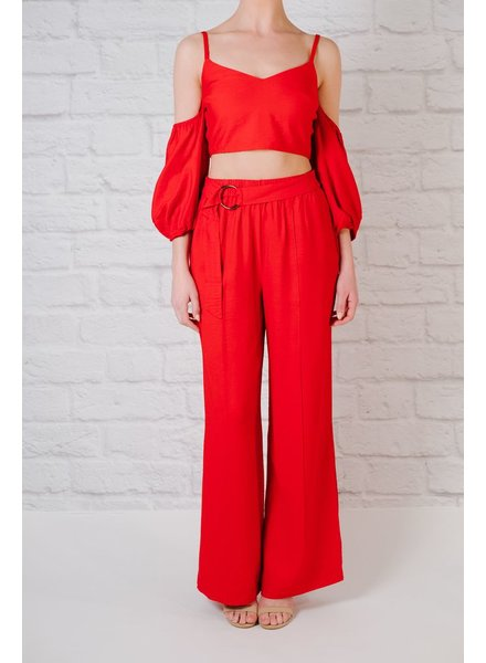 Crop Drop puff sleeve crop
