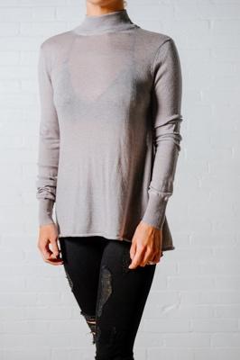 Sweater Grey open back sweater