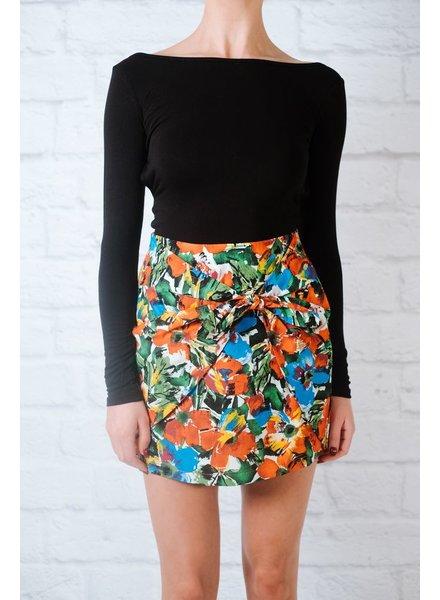 Skirt Floral knot mini skirt