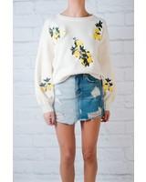 Sweater Lemon patch sweater