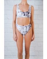 Bikini Marbled high cut banded bottom