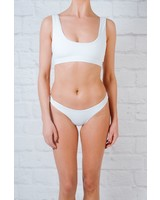 Bikini White cheeky bottom