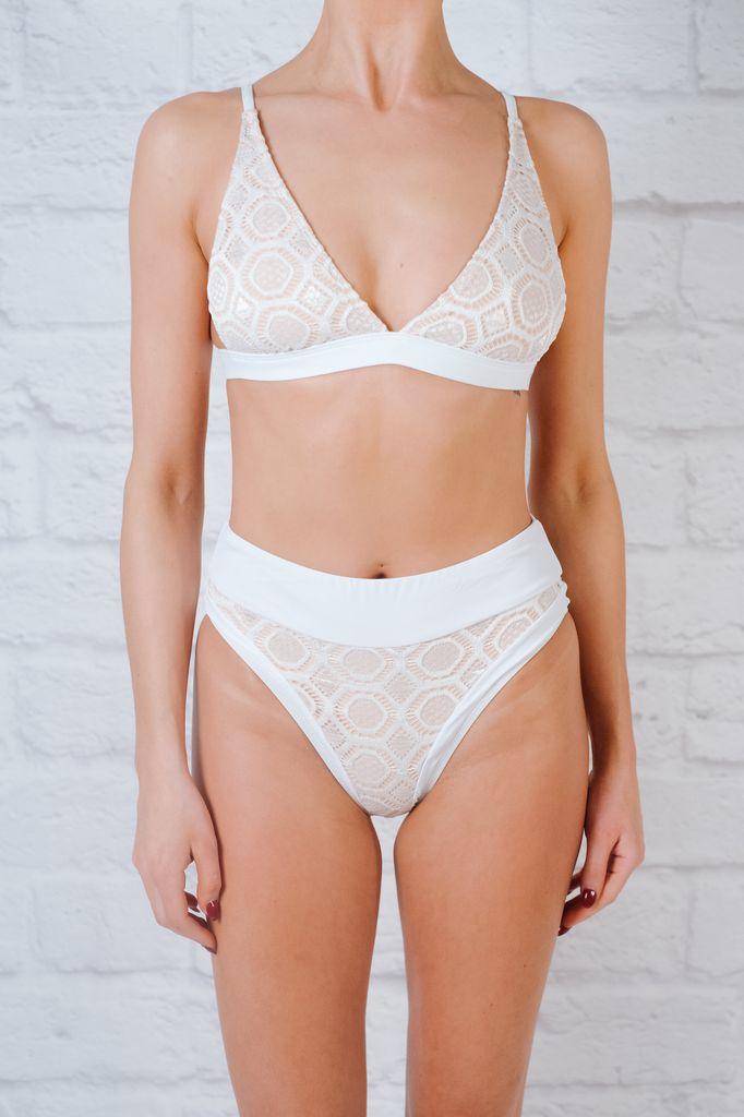 Bikini High cut cheeky lace bottom