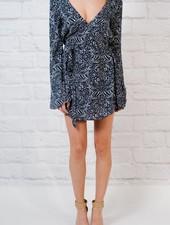Mini Flare sleeve wrap dress