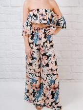 Pants Floral side slit pants