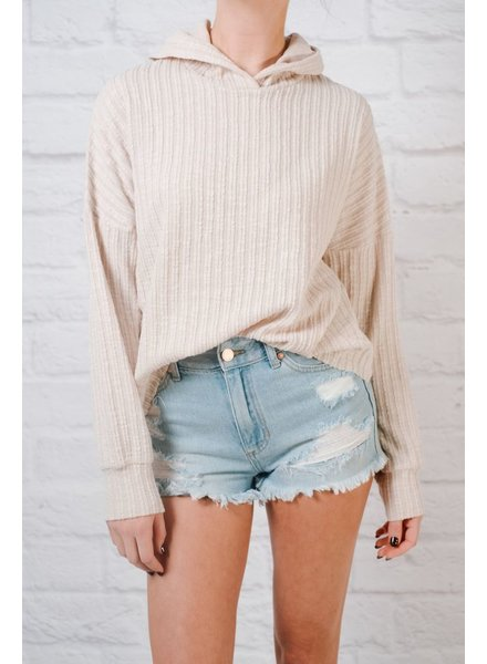 Knit Long Sleeve Hooded Knit