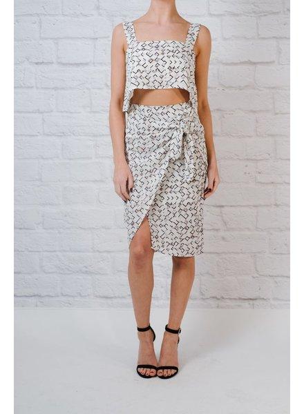 Skirt Geo print wrap skirt