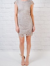 Mini Lilac grey lace mini