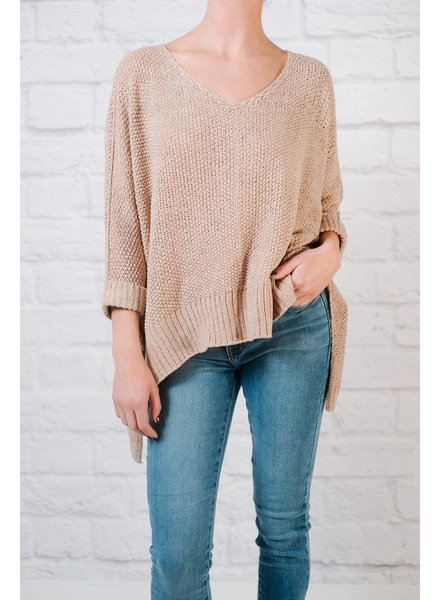 Sweater Mauve springtime knit