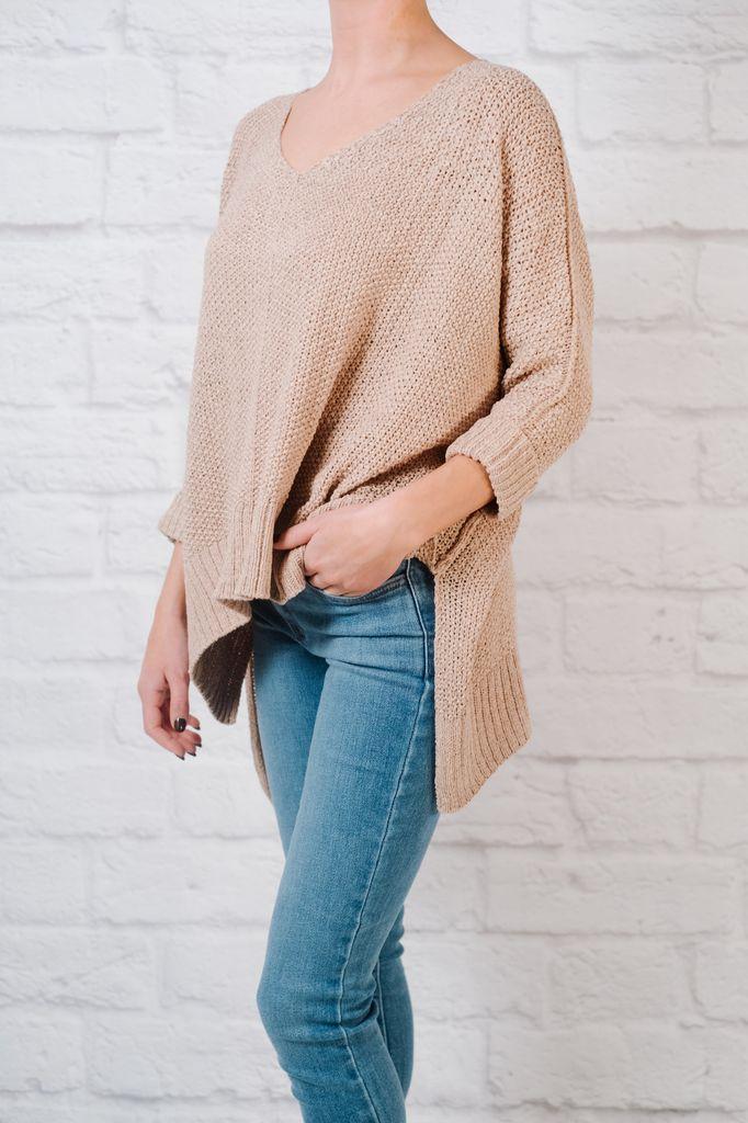 Sweater Mauve springtime knit