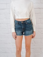 T-shirt Cropped pintuck t-shirt