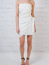 Mini Polka Dot Wrap Front Dress