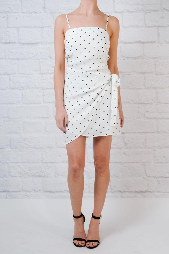 Mini Poka Dot Wrap Front Dress