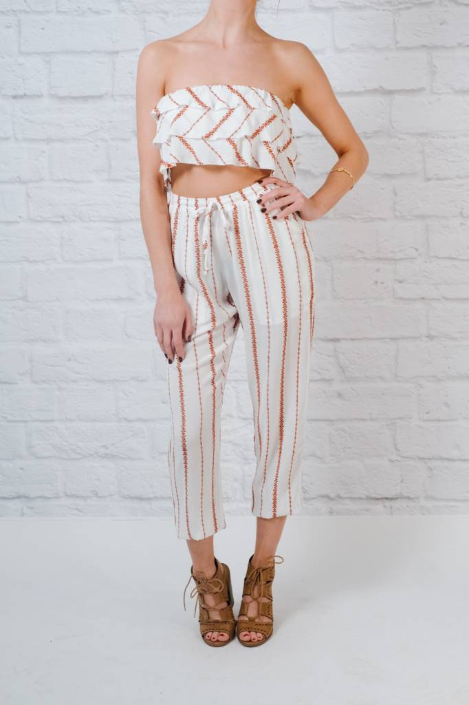 Crop Layered Ruffle Crop Top