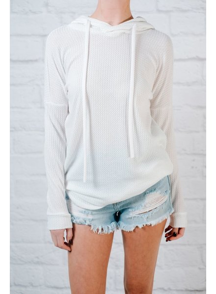 Sweatshirt Waffle knit hoodie