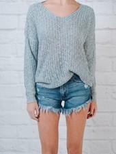 Sweater Twist Back Reversible Sweater
