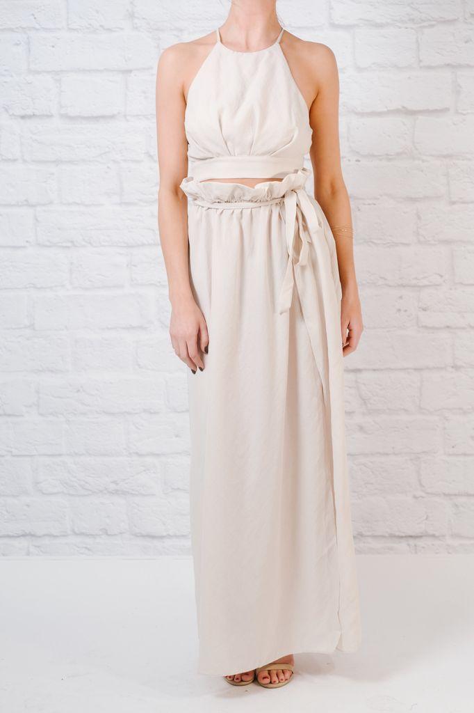 Skirt Tie waist maxi skirt