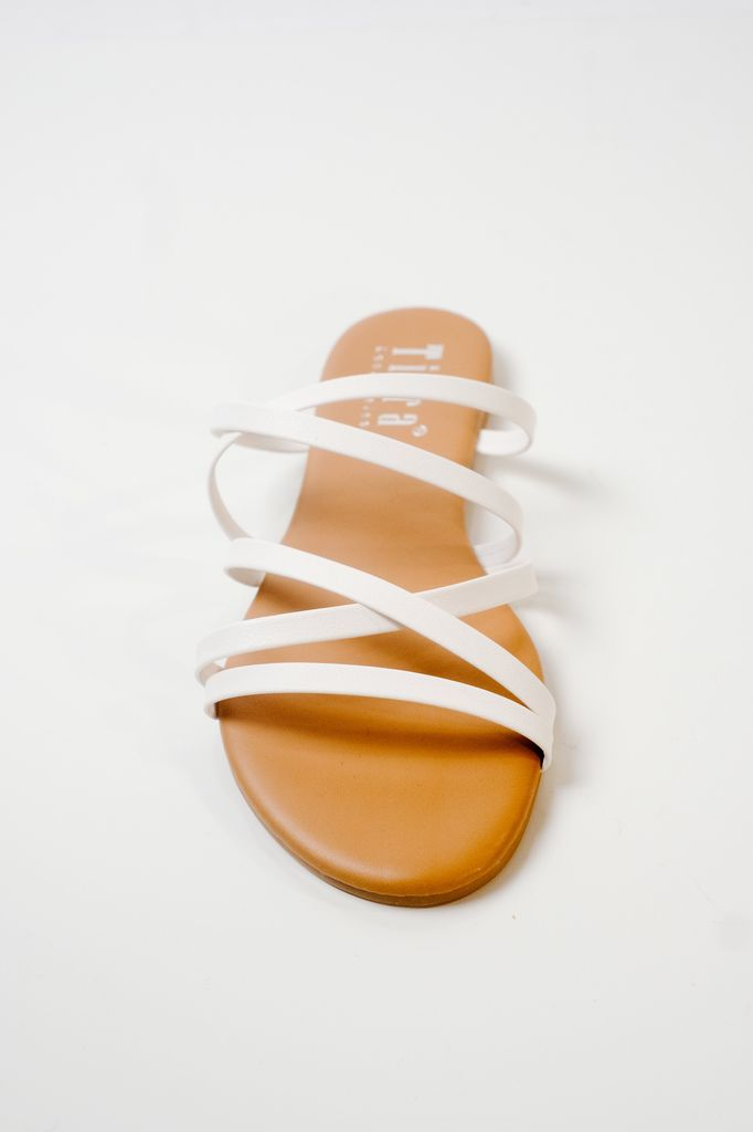 Sandal Strappy white slides
