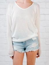 Sweater Ivory dolman sleeve knit