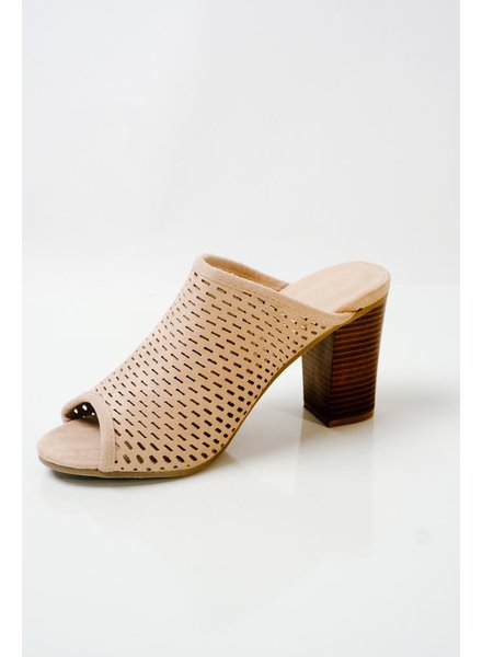 Sandal Perforated suede slide
