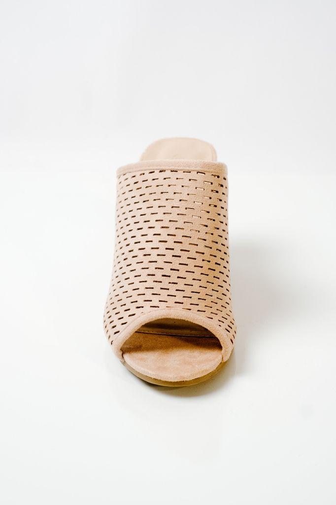 Sandal Perforated suede slide