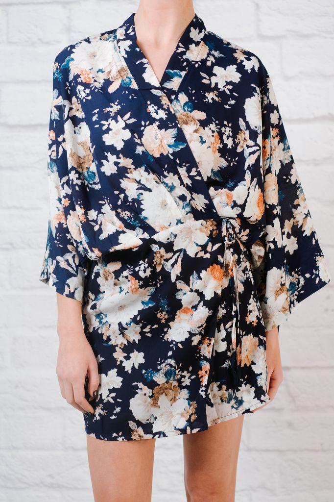 Mini Foral kimono mini
