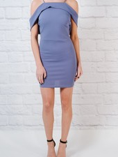 Mini Sky draped shoulder dress