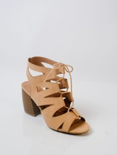 Sandal Tan lace up gladiator shoes