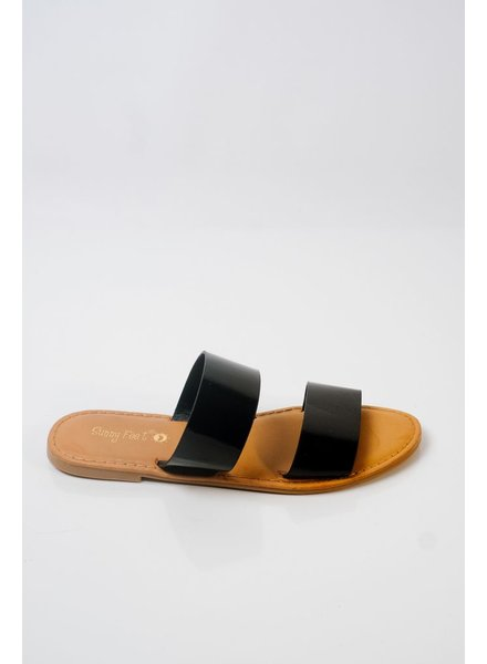 Sandal Patent double strap sandal