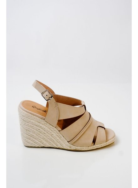 Wedge Hemp sole nude wedge